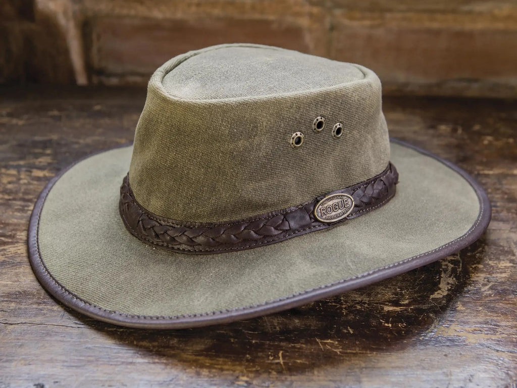 "disndatmarket,Men's Waxed Cotton Tin Cloth Hat in Olive, ""Blyde River"",disNdatmarket,Hat"