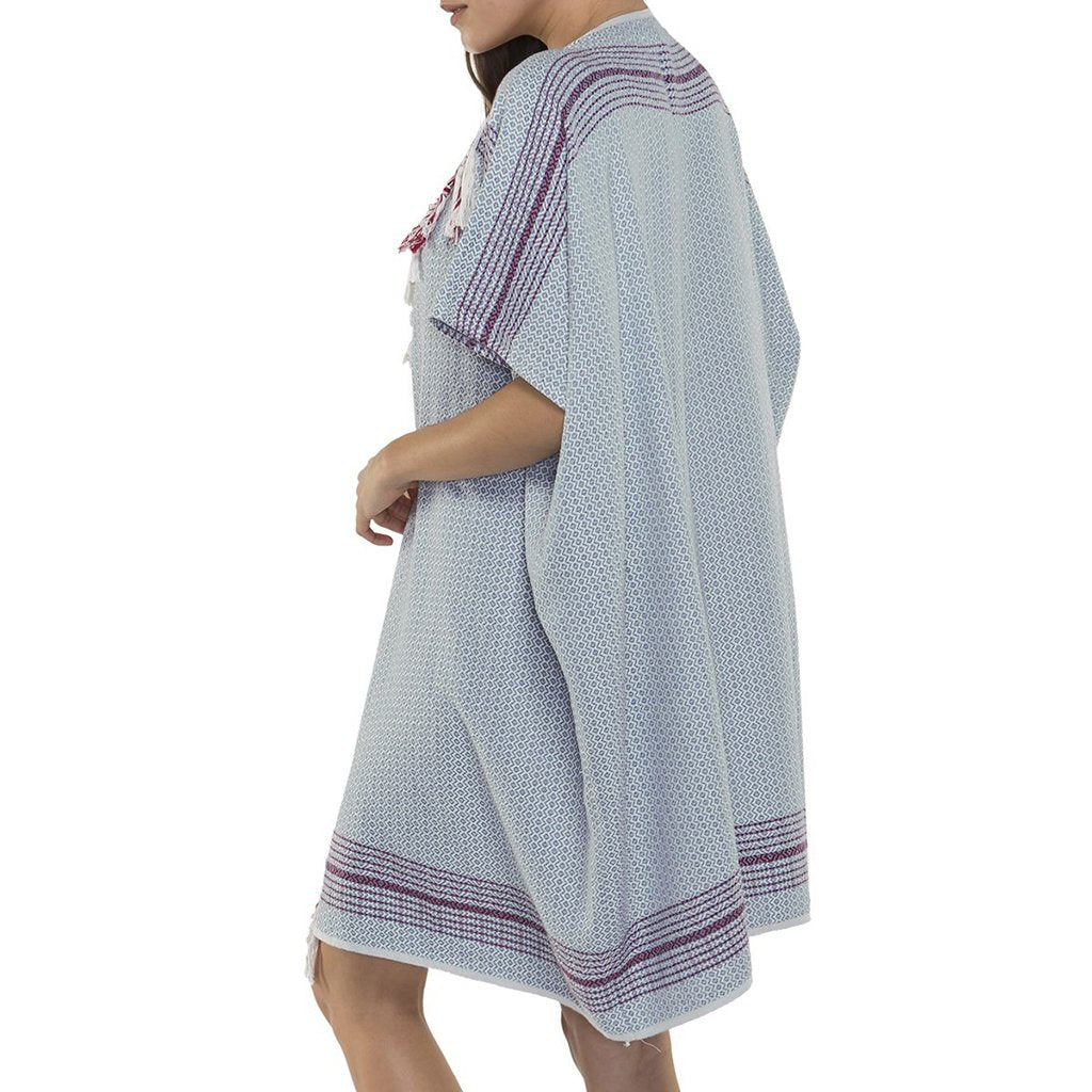 disndatmarket,Sky Turkish Tapestry Kimono,disNdatmarket,Women - Apparel - Swimwear - Cover Ups