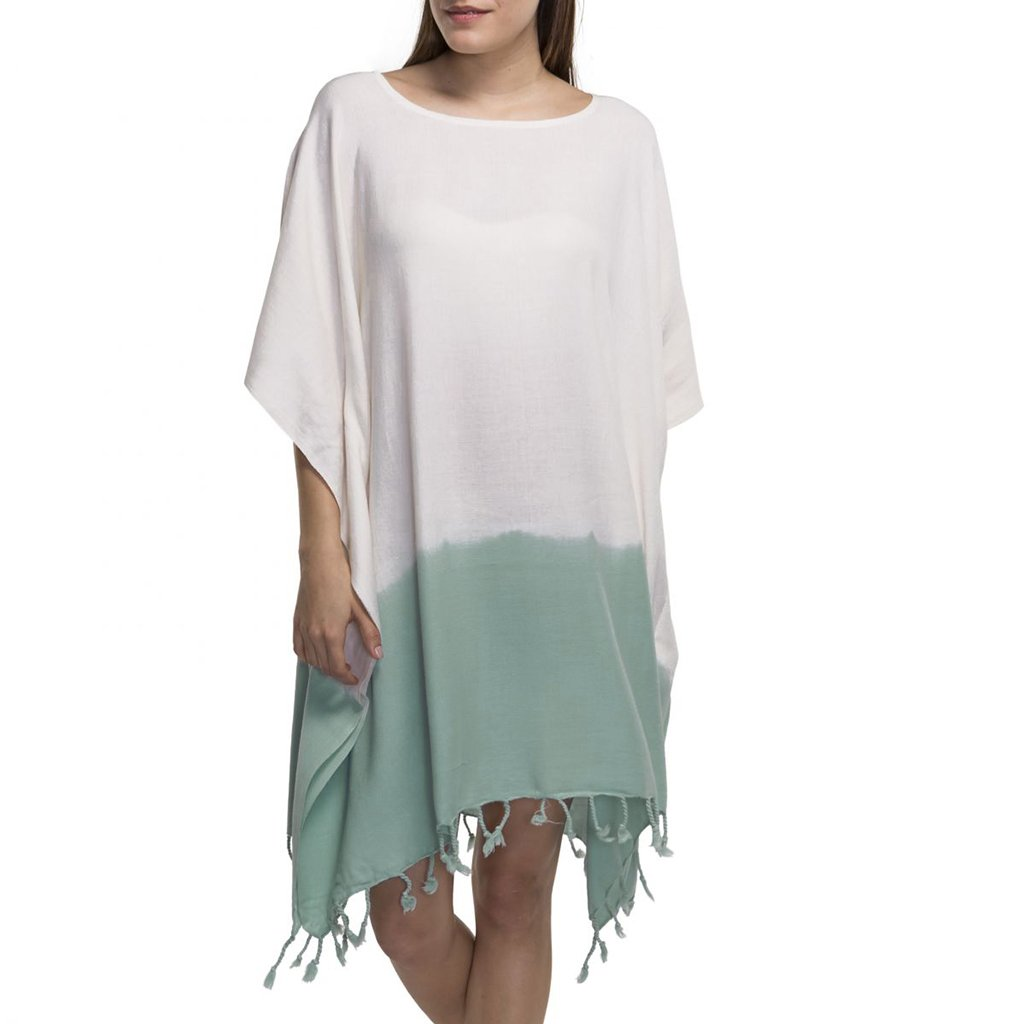 disndatmarket,Mint Dip Dye Turkish Tunic,disNdatmarket,Women - Apparel - Swimwear - Cover Ups