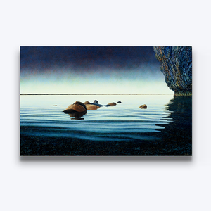 Floating Poet Boyd-Dunlop Gallery Napier Hawkes Bay Mark Cross Oil Painting Landscape Seascape Water