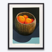 Oranges in a Seagrass Basket Michael Smither Limited Edition Screenprints Boyd-Dunlop Gallery