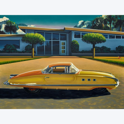 Boyd-Dunlop Gallery Napier Hawkes Bay Ross Jones Original Oil Painting Landscape Surrealism Realism Scenic Artist Car Toy