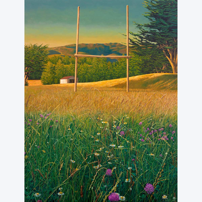 Boyd-Dunlop Gallery Napier Hawkes Bay Ross Jones Original Oil Painting Landscape Surrealism Realism Scenic Artist Grass Game