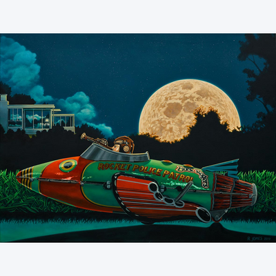 Boyd-Dunlop Gallery Napier Hawkes Bay Ross Jones Oil Painting Realism Limited Edition Fine Art Prints Moon Rocket