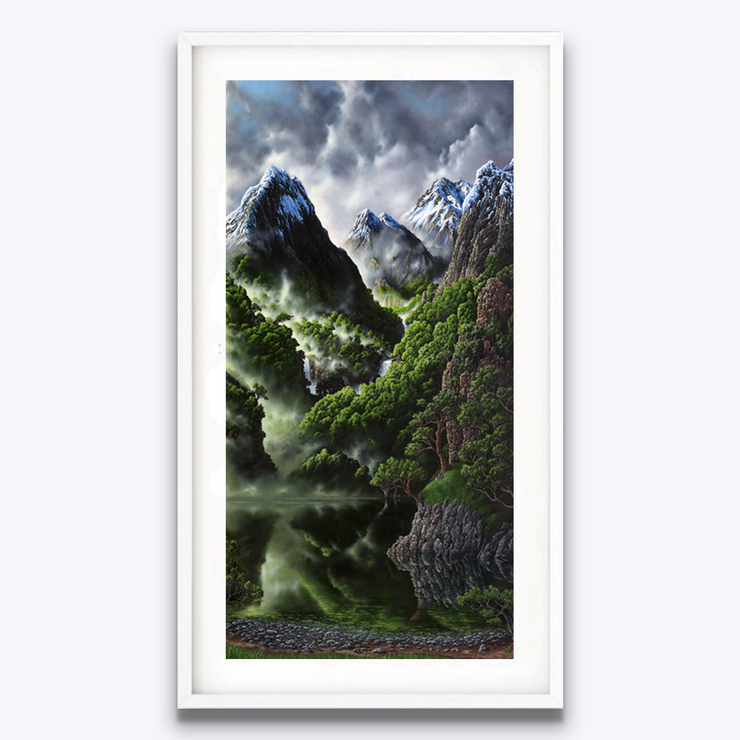 Boyd-Dunlop Gallery Napier Hawkes Bay Jeremy McCormick Mountains Landscape Surrealism Realism Oil Painting Scenic Artist