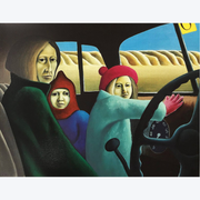 Family in the Van Michael Smither Limited Edition Screenprints Boyd-Dunlop Gallery