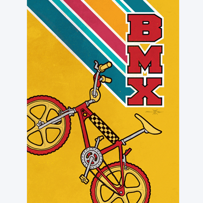 Boyd-Dunlop Gallery Napier Hawkes Bay Samuel Taylor Digital Print Future Art Augmented Reality Limited Edition Prints Artivive BMX retro bike