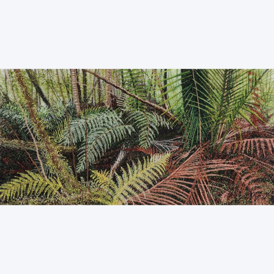 Boyd-Dunlop Gallery Napier Hawkes Bay Alison Holt Embroidery Forests Flowers Silk Landscape Bernina Flower Show Painting Scenic Artist Ferns