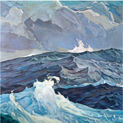 Boyd-Dunlop Gallery Napier Hawkes Bay Hastings Street Dick Frizzell Fine Art Prints Screen Print Editions Limited Advertising illustration painting swell ocean wave