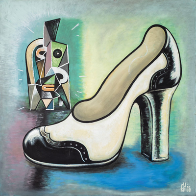 Boyd-Dunlop Gallery Napier Hawkes Bay Fane Flaws Painter Pop Art Kiwiana Riki Fine Art Print shoe canvas