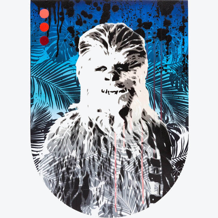 Boyd-Dunlop Gallery Napier Hawkes Bay Brad Novak New Blood Pop Pop Artist Kiwiana Starwars Original Screen Print Darth Vadar Chewbacca