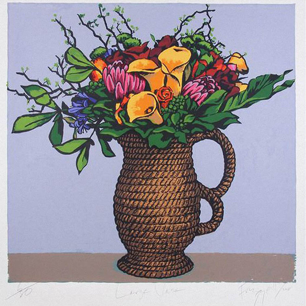 Boyd-Dunlop Gallery Napier Hawkes Bay Dick Frizzell Limited Edition Screen Prints Painting NZ Art  large vase