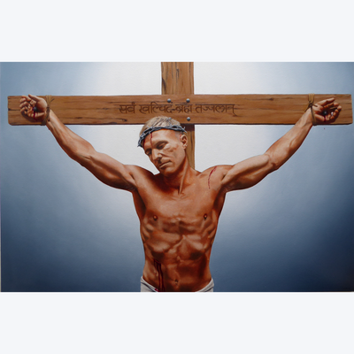 Boyd-Dunlop Gallery Napier Hawkes Bay Peter Miller Oil Painting Portrait Realism Canvas Jesus Christ Cross