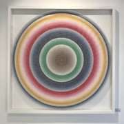 Boyd-Dunlop Gallery Napier Hawkes Bay Jo Blogg Mandala Acrylic on Perspex Dots Circle Original Painting