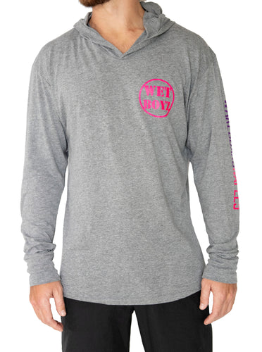 Long Sleeve Hooded Tee - Heather Gray