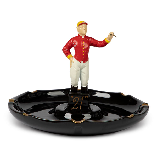 21 Club Jockey Porcelain Ashtray