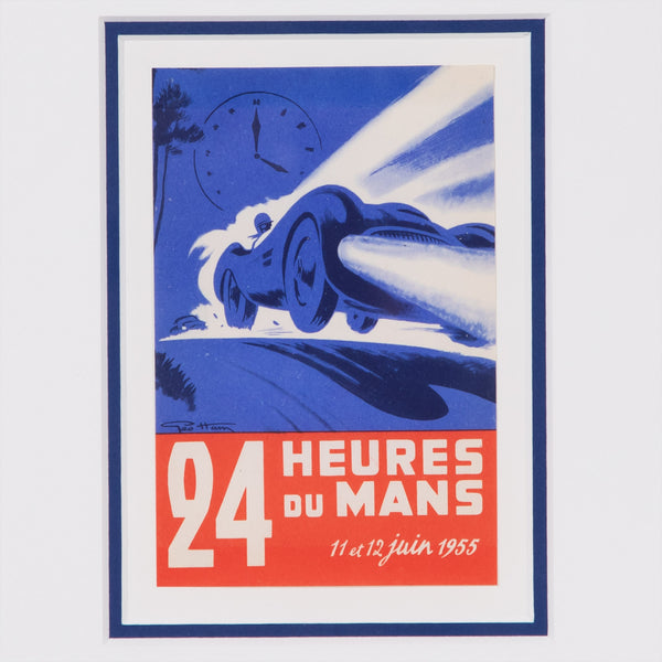 Le Mans 24 Heures 1955 - Miniature Advertising Label - Geo Ham