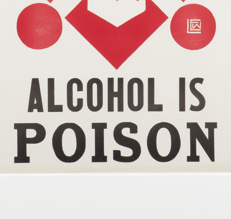 """Alcohol Is Poison"" Prohibition Poster"