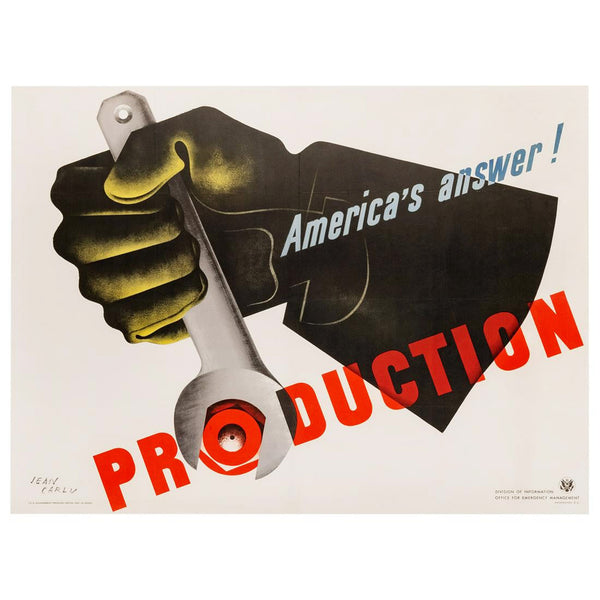 America's Answer! Production by Jean Carlu WWII Original Poster