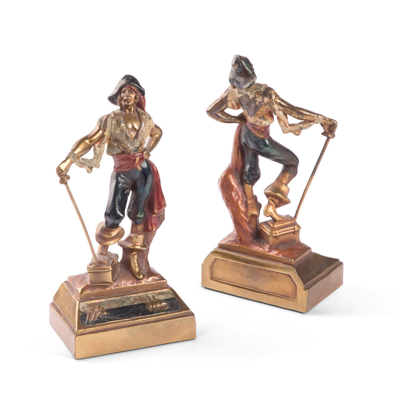Armor Bronze Swashbuckler Pirate Bookends