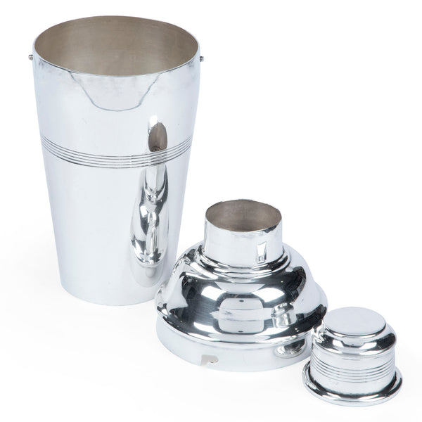 Art Deco A.E. Poston Silver-Plated Cocktail Shaker