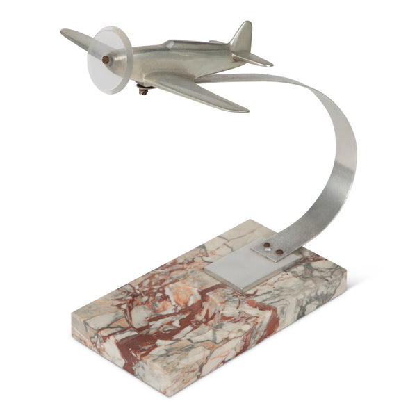 Art Deco Airplane Marble Ashtray