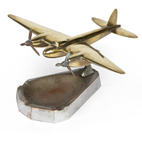 Art Deco DC-2 Airplane Ashtray