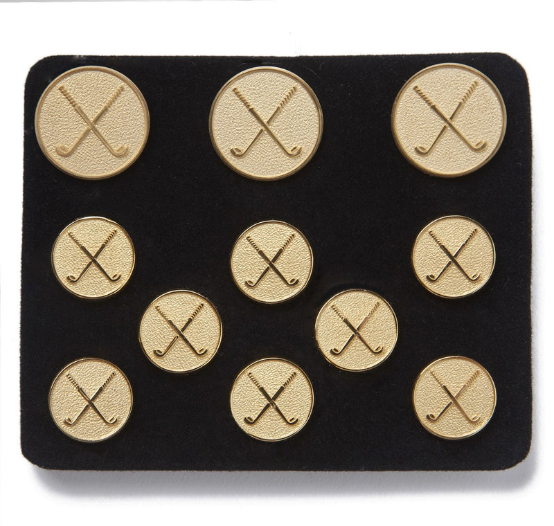 Benson & Clegg Golf Clubs Gilt Button Set