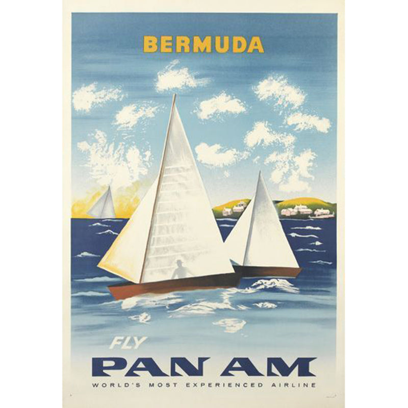 Bermuda Fly Pan Am Original Poster