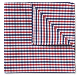 Blue & Red Gingham Pocket Square