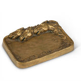 Equestrian Bronze Cigar Ashtray