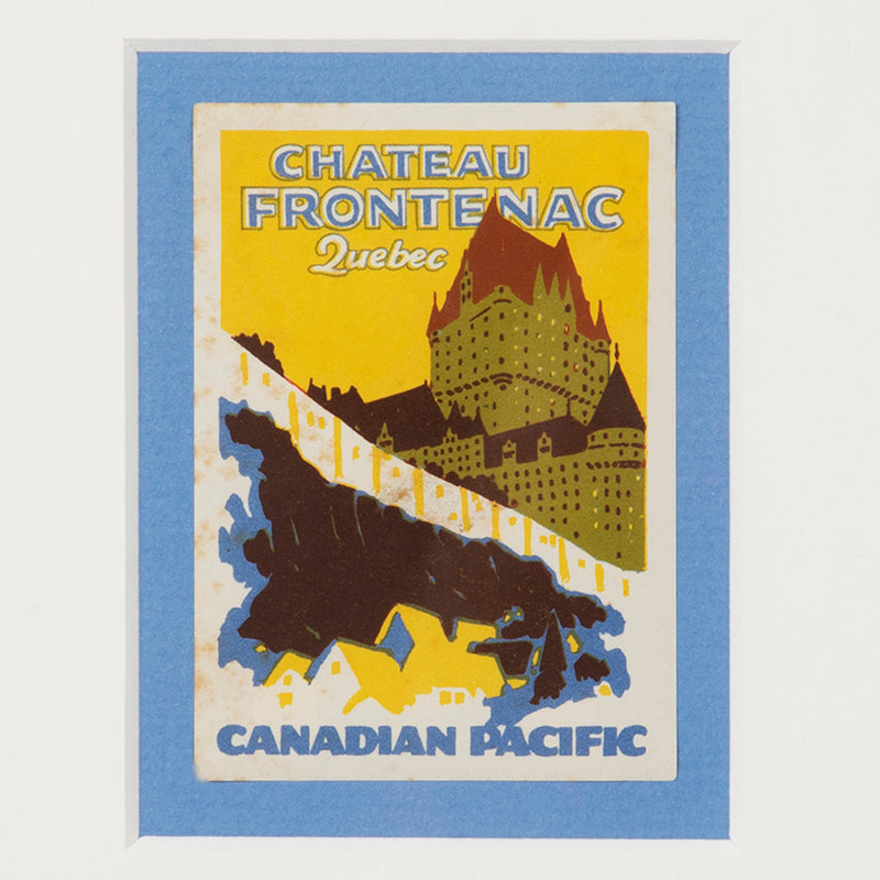 Château Frontenac Quebec Canadian Pacific Luggage Label