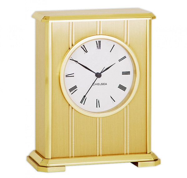 Chelsea Embassy Clock in Brass