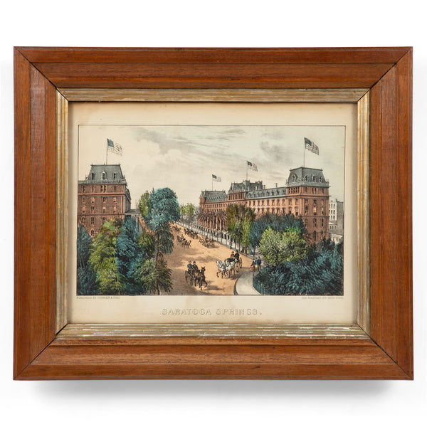 Currier & Ives Saratoga Springs, New York Lithograph