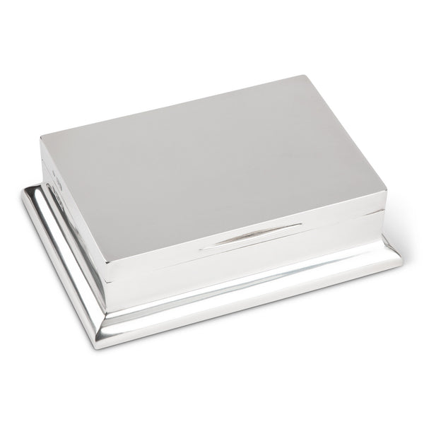 English Sterling Silver Cigar Box