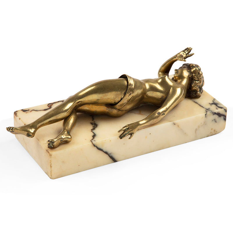 Austrian Erotic Bronze Nude Cigar Cutter