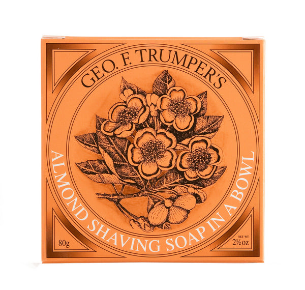 Geo F. Trumper Almond Hard Shaving Soap Wooden Bowl