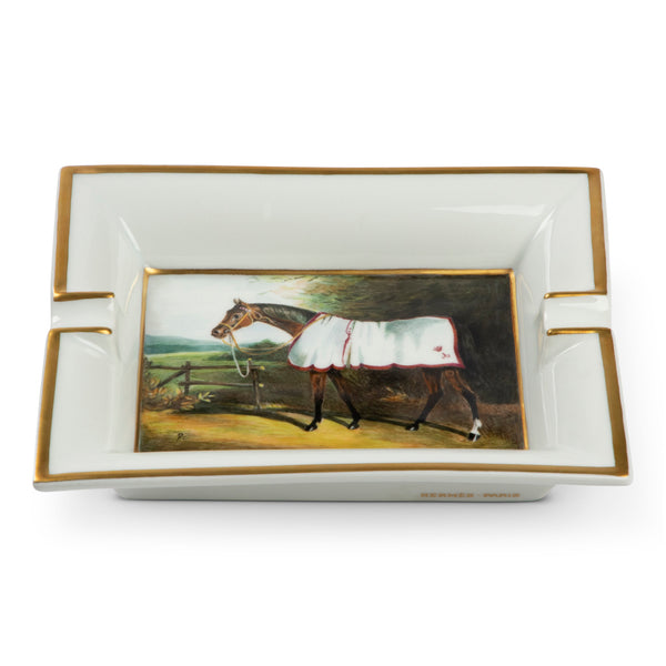 Hermès Thoroughbred Porcelain Cigar Ashtray