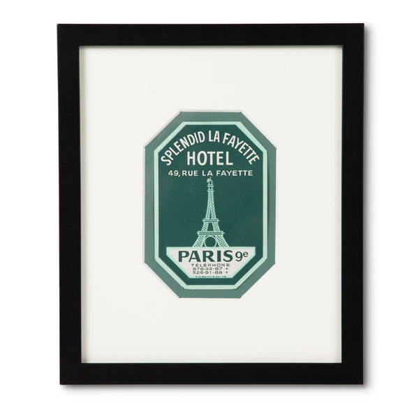 Hotel La Fayette Paris Luggage Label
