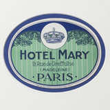 Hotel Mary Paris Luggage Label