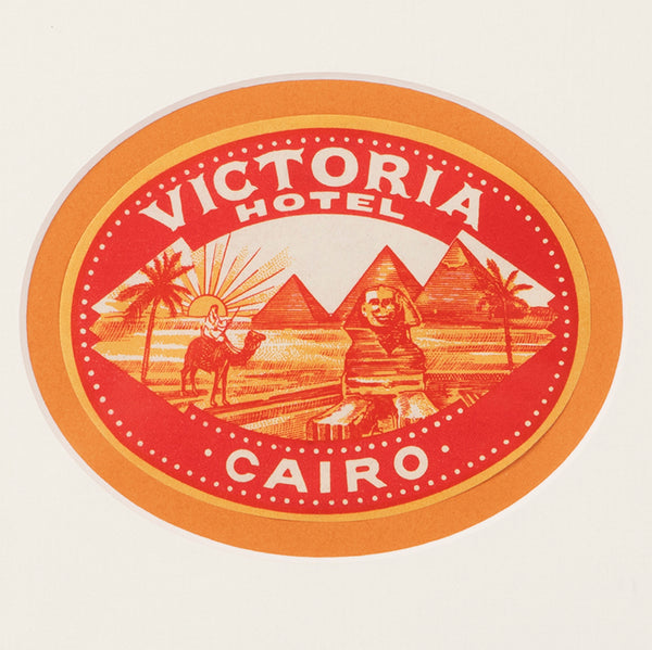 Hotel Victoria Cairo Luggage Label