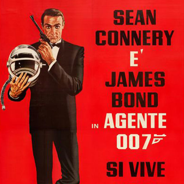 James Bond You Only Live Twice Twice 1967 Italian Film Poster