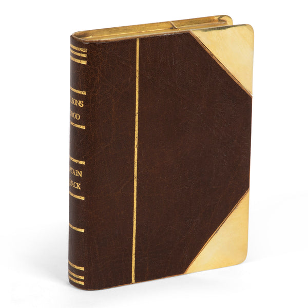 James Dixon 'Nelson's Blood' Gold Plated Book Flask