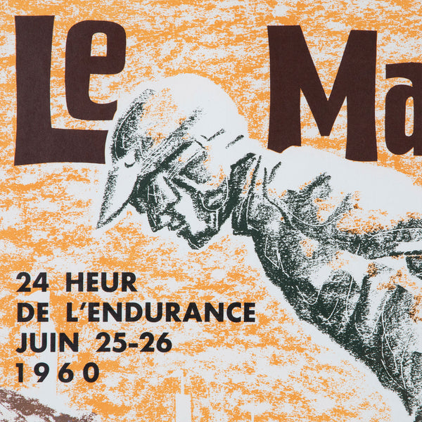 Le Mans French Auto Racing Poster 1960s
