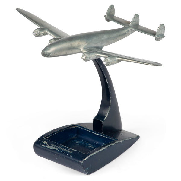 Lockheed Constellation Airplane Desk Model Ashtray