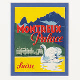 Montreaux Palace Hotel Suisse Luggage Label