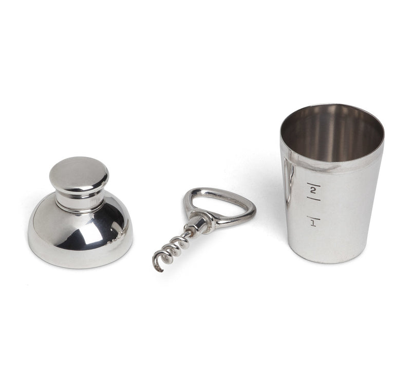 Napier Silver-Plated Cocktail Shaker Jigger