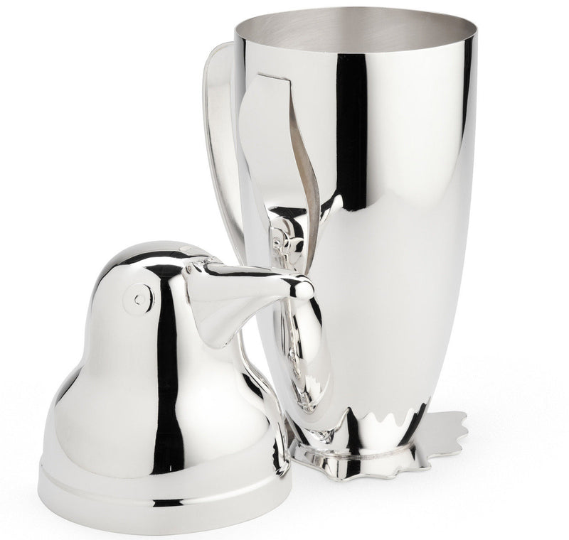 Napier Silver-Plated Penguin Cocktail Shaker