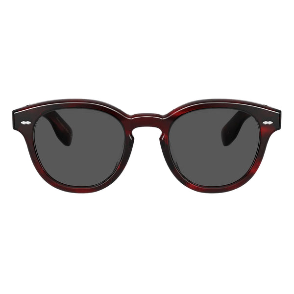 Oliver Peoples Cary Grant Sun Bordeaux Bark with Carbon Grey Sunglasses