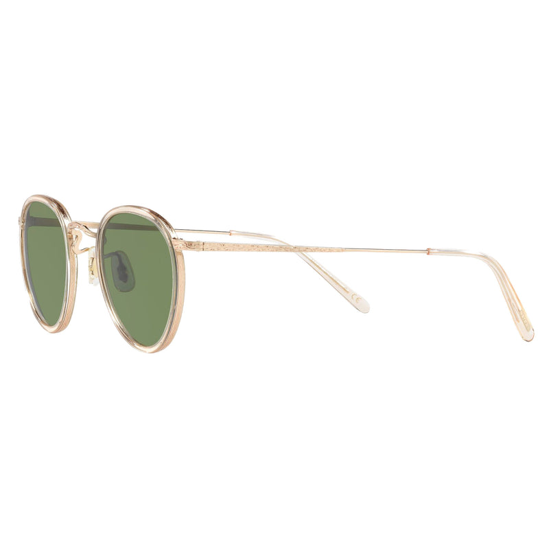 Oliver Peoples MP-2 Sun Buff Gold with Green Mineral Sunglasses